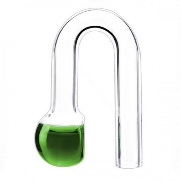 Suspended glass indicator Co2 - Drop Checker Hang on