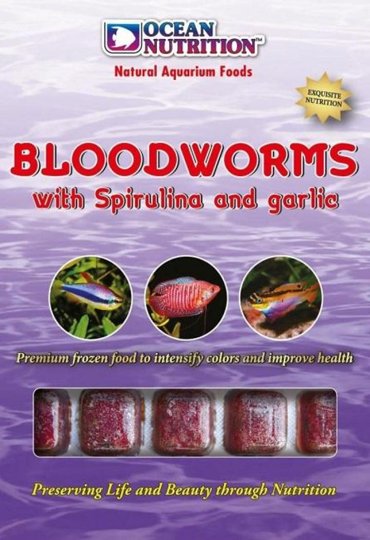 Larvas mosquito vermelhas c spirulina e alho 100 grs