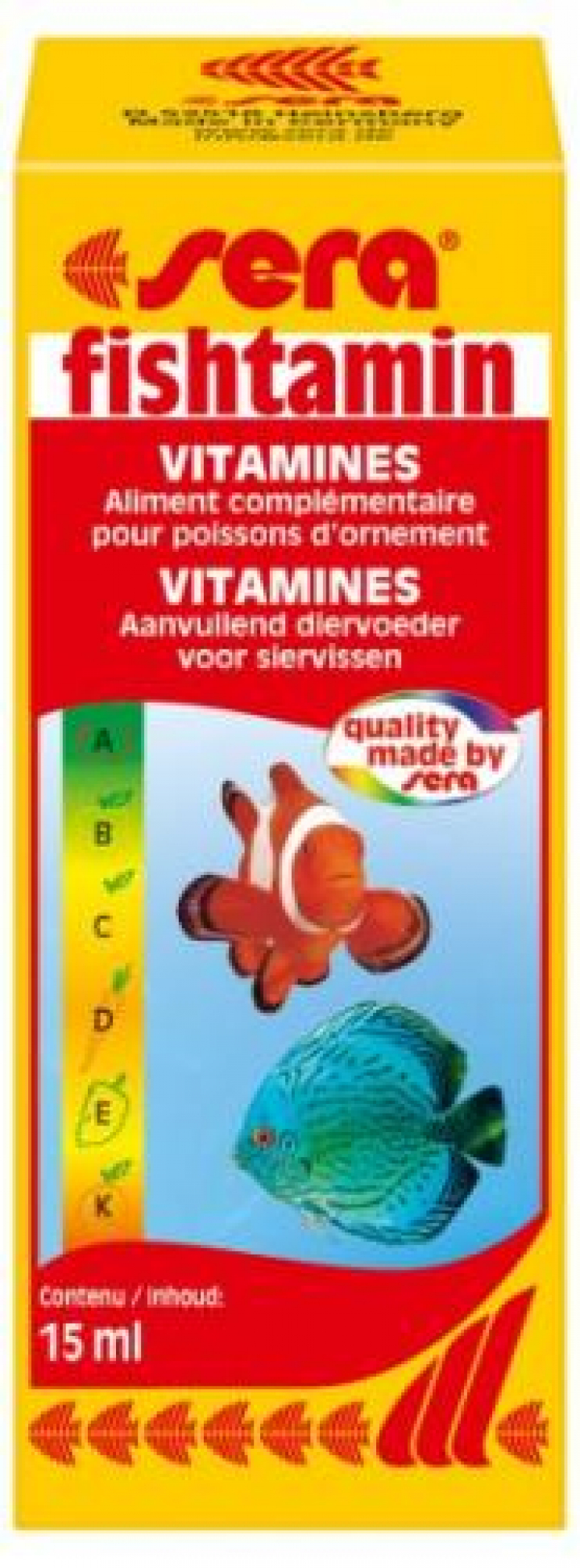 SERA FISHTAMIN VITAMINAS P/PEIXES 15ML