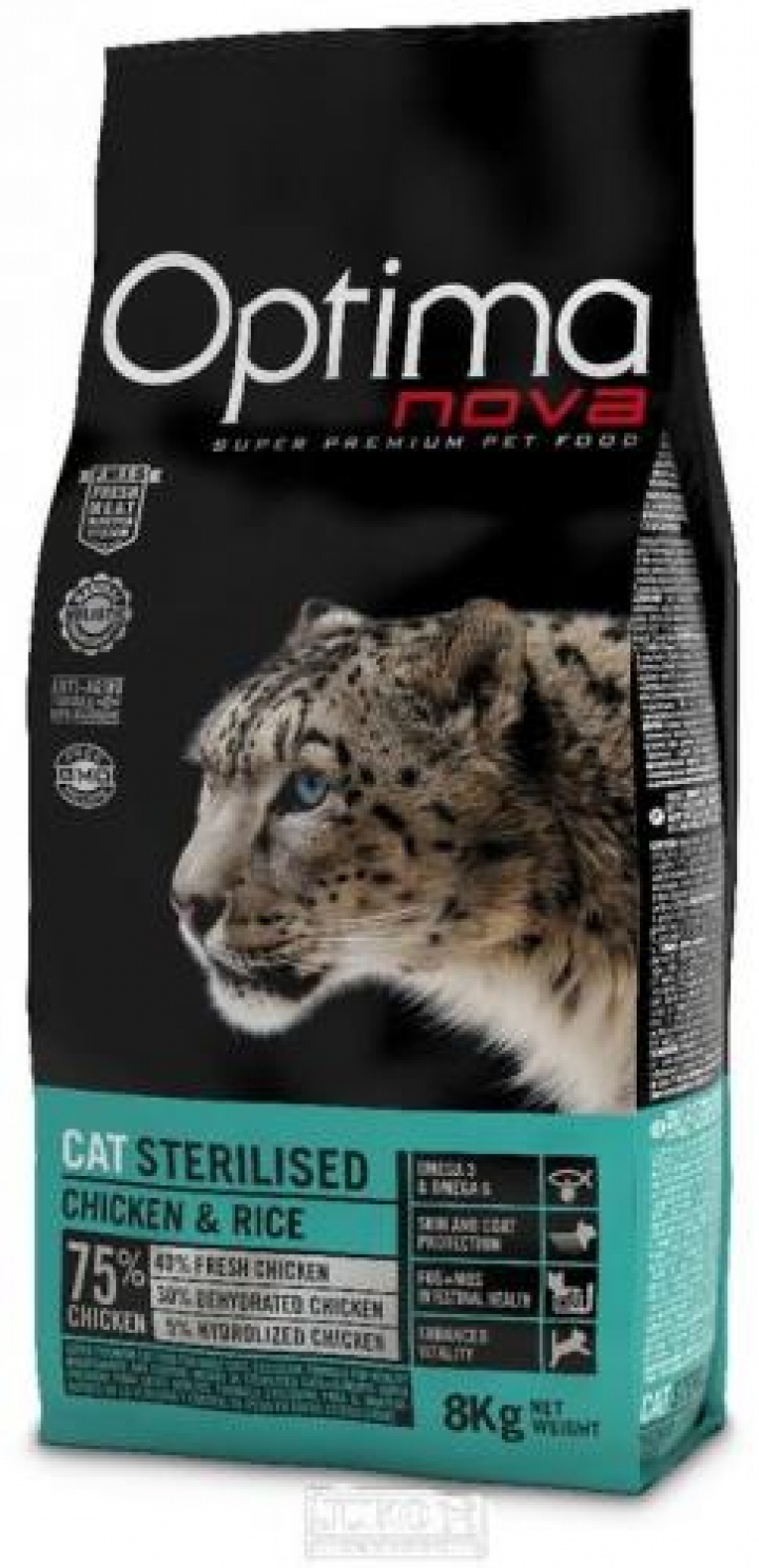 OPTIMA NOVA CAT STERILISED 8 KGS