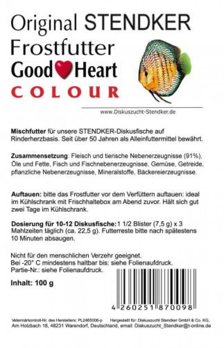 Alimento para Discus Stendker GoodHeart Colour 500 grs