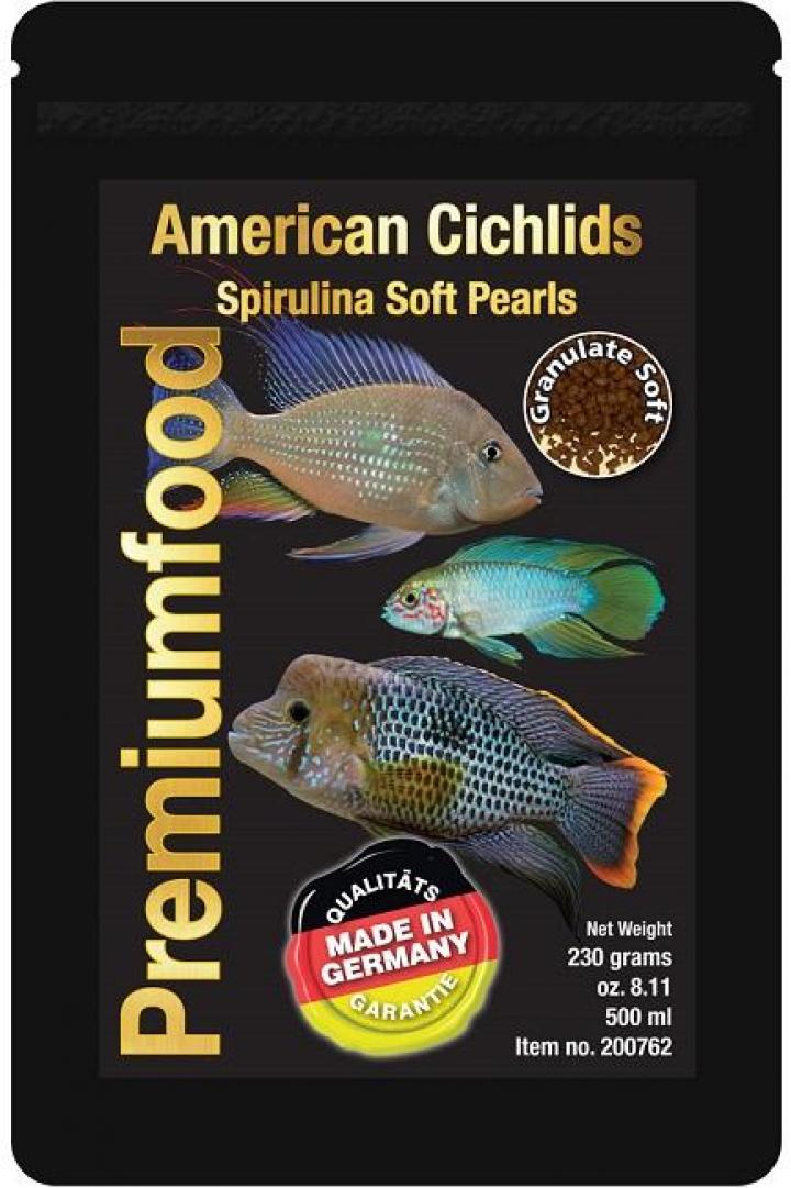 Discusfood American Cichlid spirulina pearls 230grs