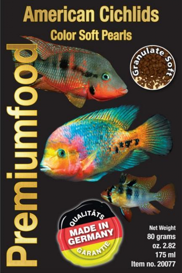 Discusfood American Cichlid colour pearls 80grs