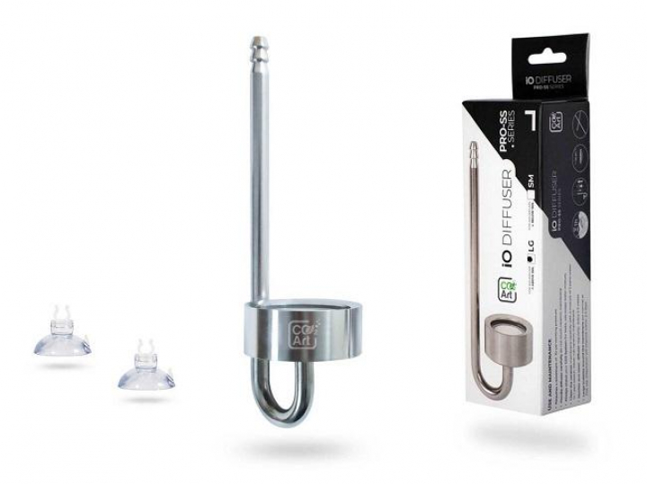 CO2Art NEW IO Diffuser - Stainless Steel Series - In-Tank CO2 Diffuser LG