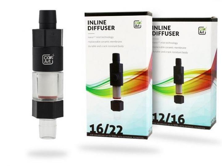 CO2Art Inline CO2 Aquarium Atomizer Diffuser System 16/22mm
